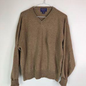 Pendleton Lambswool V-neck Sweater Pullover